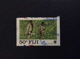 1983 FIJI SUGAR INDUSTRY 50 C FRANCOBOLLO USATO STAMP USED - Fidji (1970-...)