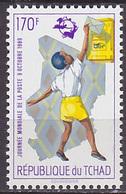 Timbre Neuf ** N° 515C(Yvert) Tchad 1989 - Journée Mondiale De La Poste - Tchad (1960-...)