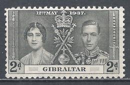 Gibraltar 1937. Scott #105 (M) Coronation Of King George VI * - Gibraltar