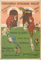 ETABLISSEMENT VETERINAIRE MALLET 47 RUE LAURISTON PARIS XVI MAISON DE SANTE POUR ANIMAUX - Mestieri