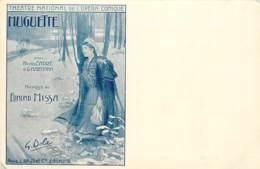 PARIS THEATRE DE L'OPERA COMIQUE  CARTE PUBLICITAIRE MUGUETTE - Théâtre