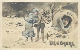 SERIE DE 12 CARTES LES 12 MOIS DE L'ANNEE ILLUSTRE PAR HENRIOT - Cartes Postales