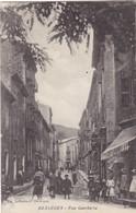 30. BESSEGES. CPA. ANIMATION RUE GAMBETTA. ANNEE 1915 + TEXTE - Bessèges