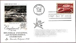 Expo BRUSSELS 1958 - SPD/FDC Detroit MI 1958 - 1958 – Bruselas (Bélgica)