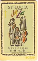 ST. LUCIA ISL.(GPT) -  JAZZ Festival 1998, CN : 233CSLC, Tirage 20000, Used - Sainte Lucie