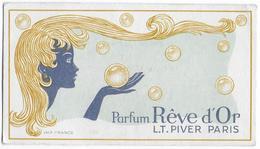 """03 - DIOU - Ancienne Carte Parfumée  -  """" Rève D'or """" -  L.T. PIVER - Parfum - Coiffeur Chez LACROIX - Perfume Cards"""