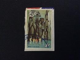 1985 FIJI SAWA I LAU CAVES 1 $ FRANCOBOLLO USATO STAMP USED - Fiji (1970-...)