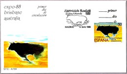 EXPO 1988 BRISBANE - TORO - BULL. SPS/FDC Madrid 1988 - Exposiciónes Universales