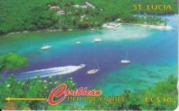 ST. LUCIA ISL.(GPT) - Marigot Bay, CN : 137CSLB, Tirage 40000, Used - Saint Lucia