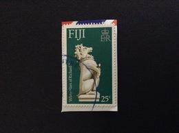 FIJI WHITE HART OF RICHARD II 25 C FRANCOBOLLO USATO STAMP USED - Fiji (1970-...)