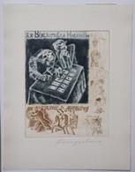 Ex-libris Illustré Moderne - Bibliotheca Macabrum - Italie - Irene D. ANDREWS - Par Fingesten - Coll. P.E. Levy - Ex-libris