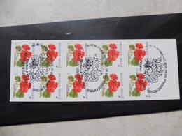 Belgique / Belgie Carnet 32 Oblitéré / Boekje Gestempelt Brussel ( Pelargonium Bloem Fleurs) Buzin - Carnets 1953-....