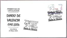 DIARIO DE VALENCIA. Periodicos - Newspapers - Journal. SPD/FDC Valencia 2004 - Timbres