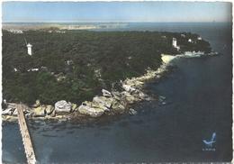 LOT 2 CPSM DE L'ILE DE NOIRMOUTIER  (VENDEE)  EN AVION AU-DESSUS DE ..... L'ANSE ROUGE. PASSAGE DU GOIS - Noirmoutier