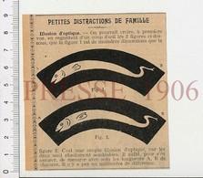 Presse 1906 Illusion D'optique Poisson à Identifier Murène ?? Lamproie ?? Anguille ?? 223X - Old Paper