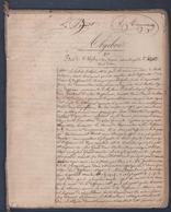 10 Scans à Découvrir, Superbe Cahier Ancien. Cours D'Algèbre,Cosmographie Et Géométrie.1849. - Manuscripts