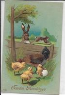 5-CARD AMERICANA IN RILIEVO EASTER GREETING(PULCINI-CONIGLI) - Thanksgiving