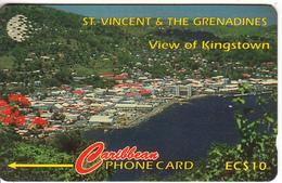 ST. VINCENT & THE GRENADINES(GPT) - View Of Kingston, CN : 52CSVB, Tirage 7900, Used - Saint-Vincent-et-les-Grenadines