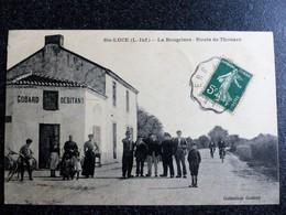 SAINTE LUCE La BOUGRIERE Route De Thouaré Circulée Ecrite Loire Inférieure Atlantique 44 Collection Godard - Other Municipalities