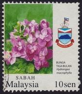 MALAYSIA 2007 Garden Flowers Def. 10sen  USED @H001 - Malaysia (1964-...)
