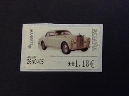 2004 ROLLS ROYCE 1947 MODELO COUPE' SERRA 1,18 € ATM FRANCOBOLLO USATO STAMP USED - 1931-Oggi: 2. Rep. - ... Juan Carlos I