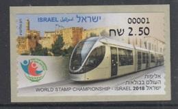 15.- ISRAEL 2018 ATM TRAIN RAILWAYS LOCOMOTIVE TAV - Trains