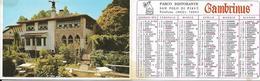 5-CALENDARIO TASCABILE 1973 GAMBRINUS-PARCO RISTORANTE SAN POLO DI PIAVE - Calendari