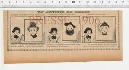 2 Scans Presse 1906 Humour Illusion D'optique  223X - Old Paper