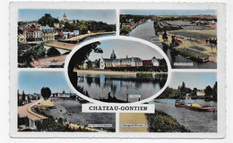 CHATEAU GONTIER - MULTIVUES - FORMAT CPA VOYAGEE - Chateau Gontier