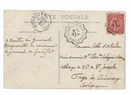 Ambulant Ferroviaire AUDUN LE ROMAN A CHARLEVILLE  2 AVRIL 1907 - Poststempel (Briefe)