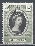 Gibraltar 1953. Scott #131 (U) Coronation Of Queen Elizabeth II ** - Gibraltar