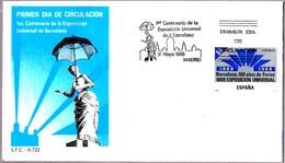 100 Aniv. BARCELONA 1888 - 100 Years Expo Barcelona 1888. SPD/FDC 1988 - Exposiciónes Universales