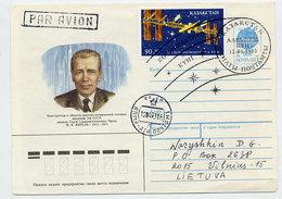KAZAKHSTAN 1993 Cosmonautics Day 90r Used On Soviet Union Stationery Envelope. - Kazakhstan