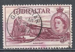 Gibraltar 1953. Scott #139 (U) Airport * - Gibraltar