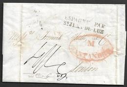 1833 SANTANDER A LONDRES - PAR ST.JEAN DE LUZ - Spain