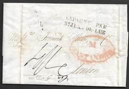 1833 SANTANDER A LONDRES - PAR ST.JEAN DE LUZ - España
