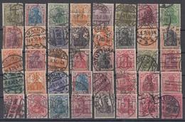 DR Lot 40 Marken Germania Gestempelt Perfins Firmenlochungen - Stamps