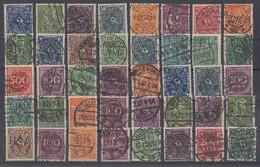DR Lot 40 Marken Inflation Gestempelt Perfins Firmenlochungen - Stamps