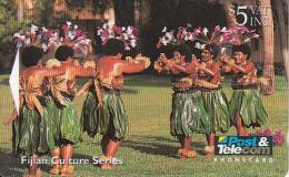 FIJI ISL.(GPT) - Female Dancers Performing Meke, CN : 07FJC, Tirage 47000, Used - Fiji