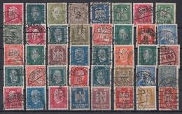 DR Lot 40 Marken 1924-1932 Gestempelt Perfins Firmenlochungen - Stamps
