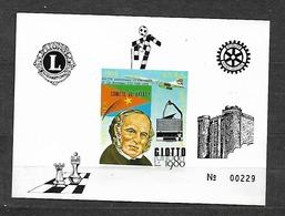 #B33# ERITREA DELUXE PROOF . SPACE, HALLEY COMET, CHESS, ROTARY, GIOTTO, CONCORDE, - Eritrea