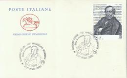 Italien 'Gioachino Rossini' / Italy 'Gioachino Rossini' FDC 2018 - Musik