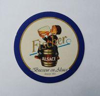 Sous Bock Fischer Brasseur En Alsace - Sous-bocks