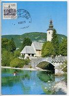 YUGOSLAVIA 1972 Definitive 0.20 D. Bohinj On Maximum Card. Michel 1493 I - Maximum Cards