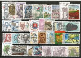 Lot De Timbres Différents Nouveaux De Slovaquie (30) Oblitérés, Bonne Qualité, Provenant De Mon Courrier - Stamps