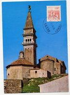 YUGOSLAVIA 1972 Definitive 0.80 D. Piran On Maximum Card. Michel 1483 I - Maximum Cards