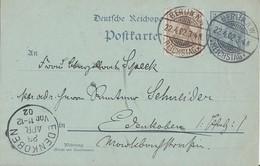 DR Ganzsache Zfr. Minr.69 Berlin Reichstag 22.4.02 - Deutschland