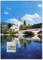 YUGOSLAVIA 1971 Definitive 0.75 D. Bohinj On Maximum Card. Michel 1429 - Maximum Cards