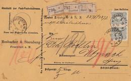 DR Paketkarte Für 2 Pakete Mif Minr.40, 5x 44 Davon 2 Waagr. Paare Frankfurt 16.8.83 Gel. In Schweiz - Deutschland