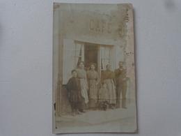 79 BRESSUIRE CARTE PHOTO CAFE BLUTEAU RUE DE JUILLOT  état Voir Scan - Bressuire